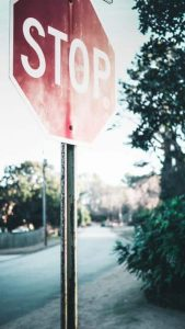 private property stop signs