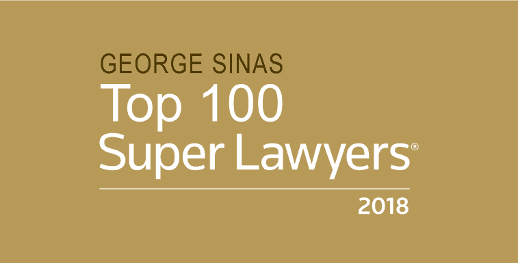 George Sinas Top 100 Super Lawyers 2018