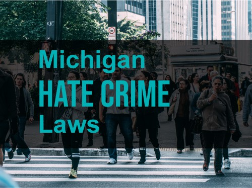 people-walking-on-sidewalk-michigan-hate-crime-law-words-over