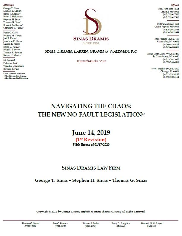 Michigan No-Fault Reform Brochure