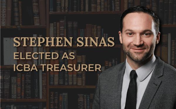 Stephen Sinas ICBA Treasurer announcement