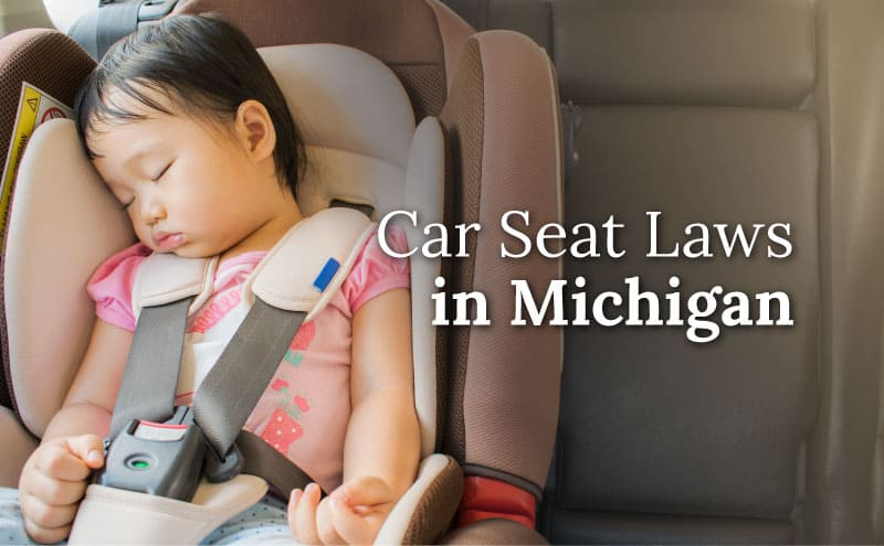 young child in car seat sleeping