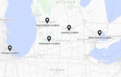 Michigan Law Office Location Map