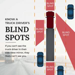 semi-truck blindspots