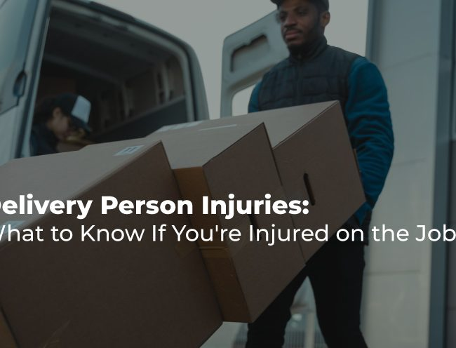 Person delivering large boxes