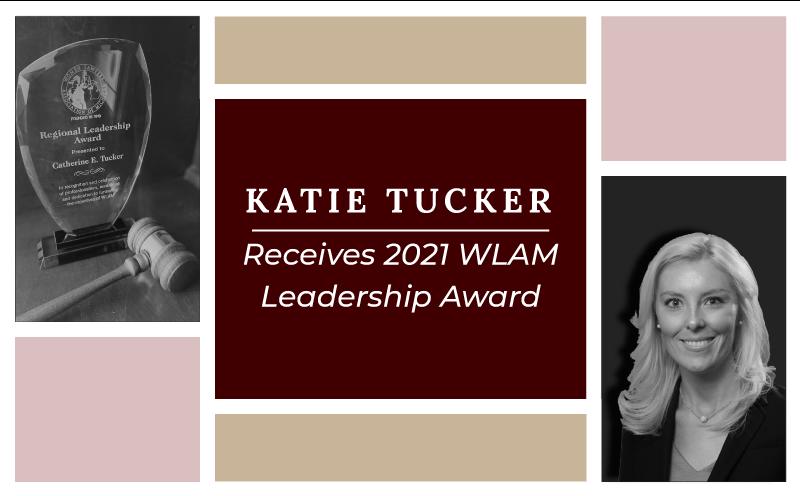 Kate Tucker receives leadership award