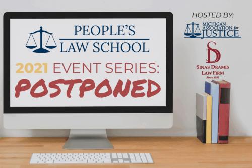 People's Law School 2021 postponed