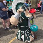 Lansing bike helmet giveaway Sparty