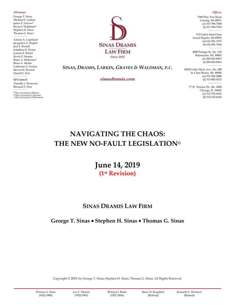 Michigan No-Fault Reform Brochure