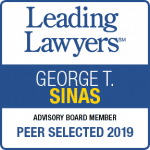 George Sinas leading Lawyers 2019 badge
