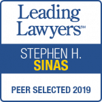 Stephen Sinas Leading Lawyers 2019 badge