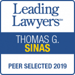 Thomas Sinas Leading Lawyers 2019 badge