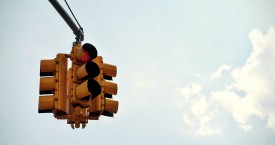 Saginaw Broadbent Intersection – Light Installed and Operational