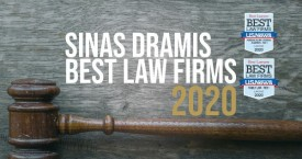 "Sinas Dramis Earns Multiple Rankings in 2020 ""Best Law Firms"" List"