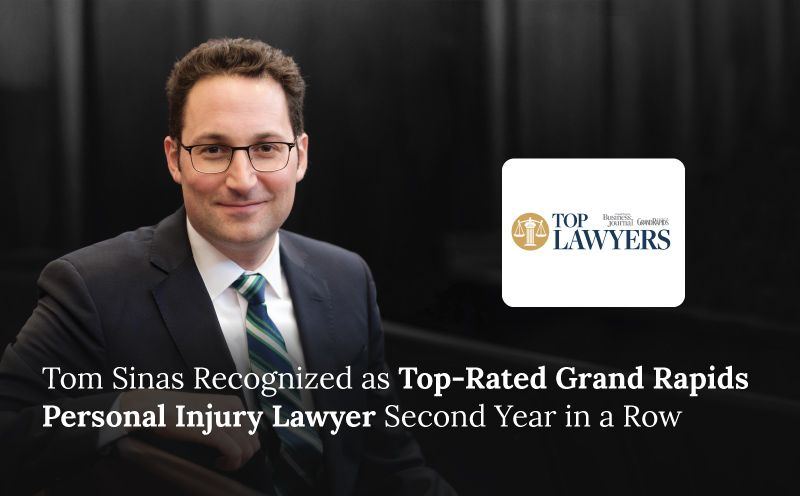 Tom Sinas Recognized as Top-Rated Grand Rapids Personal Injury Lawyer Second Year in a Row