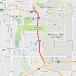 I-496/US-127 Map