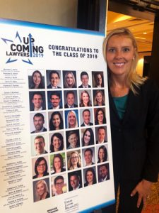 Katie Tucker at Up and Coming Lawyers luncheon