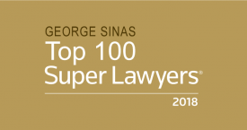 Super Lawyers Honors George Sinas with High Recognitions
